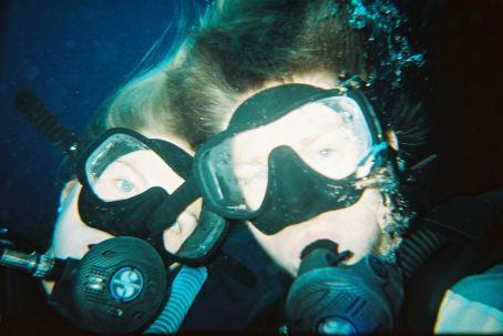 Underwater us (we got in trouble for taking this picture as we didn't stay in our group !!)