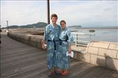 Hahahaaaaa! Us about to get into the sand at Ibusuki: by jamesanddan, Views[505]