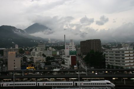 The view from our hotel in Beppu
