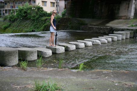 Walking across a random river!