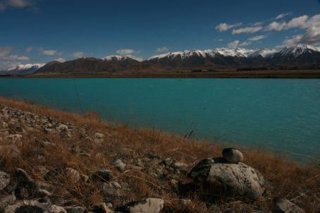 Blue lake on way to Methven