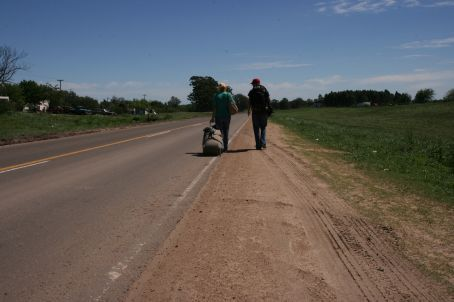 The long walk back to Argentina.....