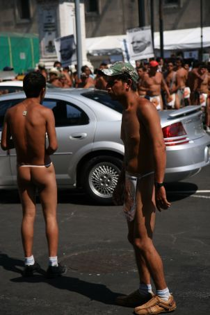 protest Men mexican naked
