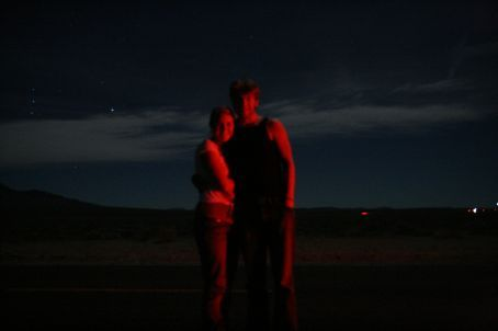 In the desert at night!
