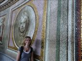 Julie up the top of the dome, from the inside of St Peter's Basilica: by jamesandjulie, Views[171]