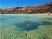 Swimming in the lagoon, Balos, Crete: by jamesandjulie, Views[179]