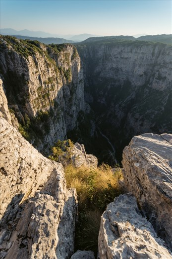 Vikos Gorge is in the Guiness Book of Records as the deepest gorge in the world with a drop of 1000m at its deepest point. 