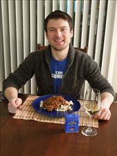 Wine, chicken and dumplings, and tin of paprika straight from Hungary. Ready to eat!: by jamesko, Views[203]