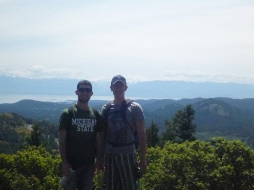 Top of Goldstream, mountains in the background!