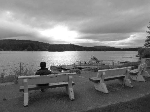Lake Shawnigan in B & W