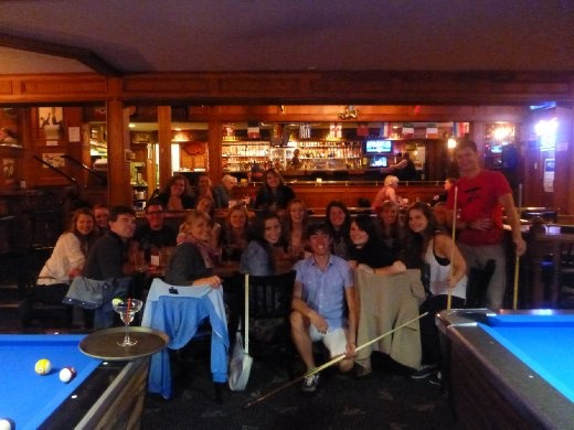 A few of the staff at the local pub in Shawnigan