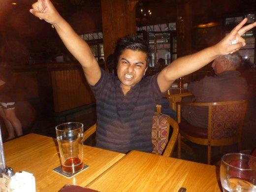 My excited Bangladeshi friend, Saeed!