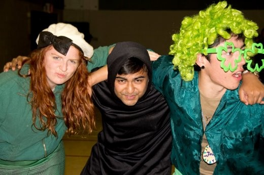 Siobhan, Saeed and I dressed up