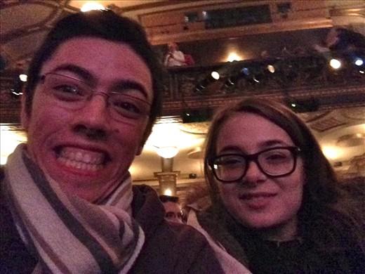 Daniela and I in the theatre