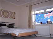 Bedroom with Auzzie flag for all outsiders to see as they walk past: by jamie_candice, Views[425]