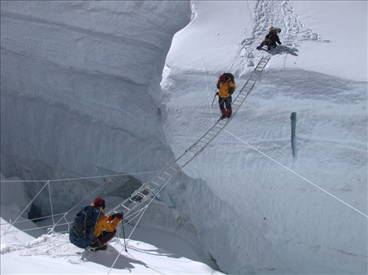 Safety journey starts from self discipline - Khumbu Ice Fall of Mt. Everest