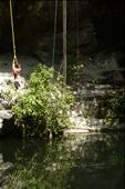 Doing some rope swinging at the Cinote near Ek Balam : by jared, Views[379]