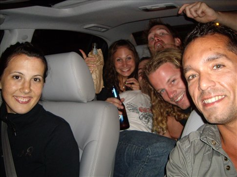 Florence. Miriam. Dave. Jarrod. Bretto. Winston. Hey, who's driving?