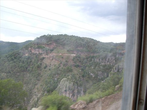 Bus ride to Urique. Amazing. See that little white speck...