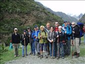 This is a picture of our group for the four-day Inca Trail Trek .  This is day one.  : by jason_kidd, Views[219]