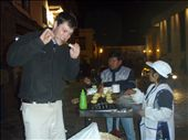 This is Jason eating at a local food stall outside of our hotel in Cusco.: by jason_kidd, Views[248]
