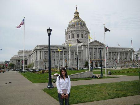 Jenn outside City Hall
