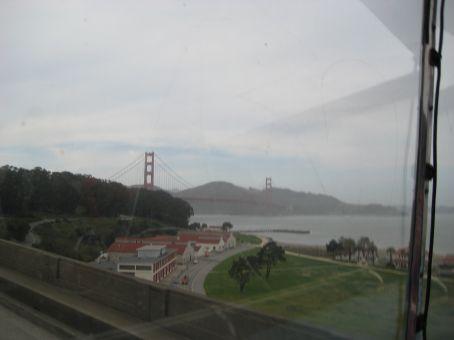 Golden Gate bridge from the city
