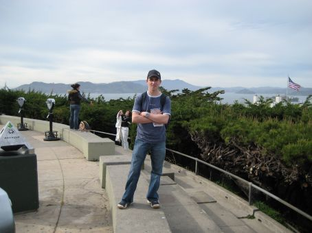 Looking down on the city from Coit Tower