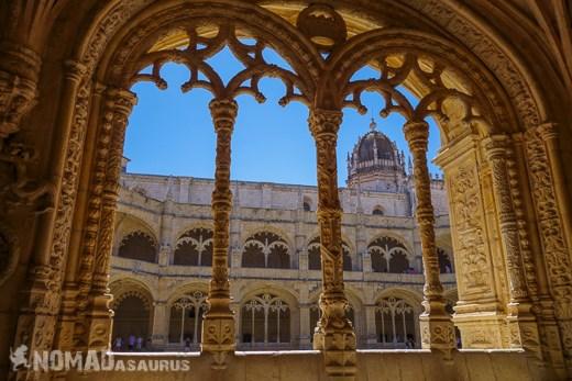 Jeronimos Monastery Through Pillars