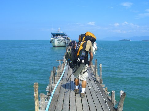 Catching the ferry to Ko Pha Ngan