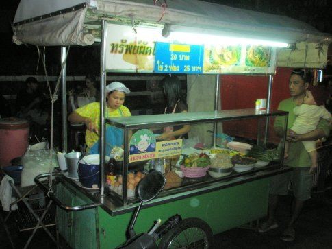 Our standard dinner. Street food!