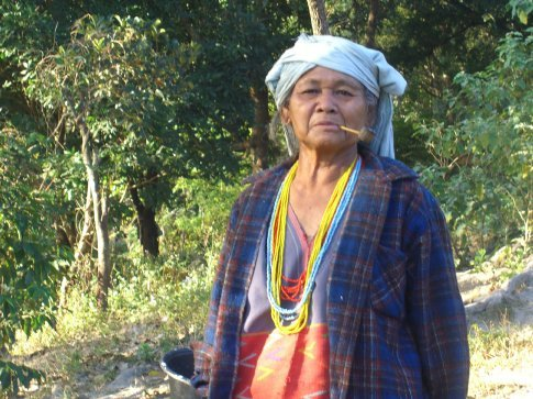 One of the woman at the White Karen Village.