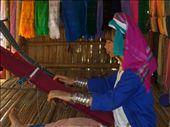 A Long Neck Karen woman weaving a scarf.: by jciecko, Views[537]