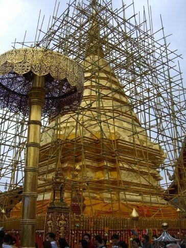 Wat Phrathat Doi Suthep being refurbished