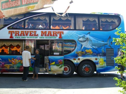 Our broken down bus to Koh Chang