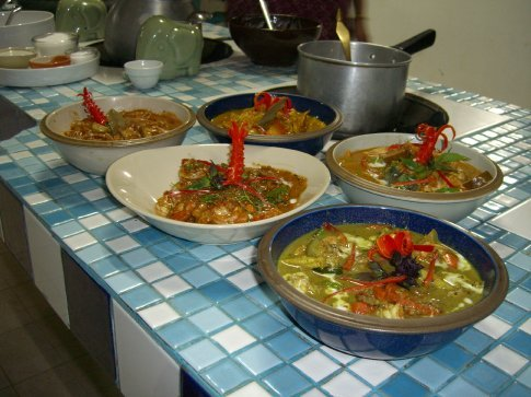 Our curries.... red, green, yellow, massaman, paneang, and jungle.