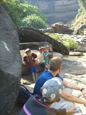 Tat Song with our guide and local kids, but no water. : by jciecko, Views[183]
