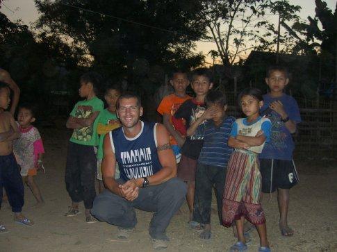 Sebastian and the kids of Ban Konglor