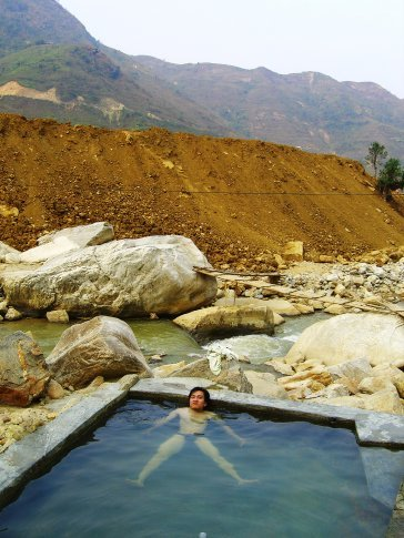 The hot springs in Ban Ho
