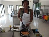 I'm cooking the fish for the first time at the cooking class in Cozumel: by jeaneats, Views[100]