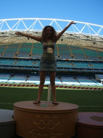 Gold trophy at the Telstra stadium