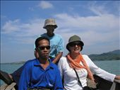 On the way to the fish farm with our host Bong Lee: by jenny-tom, Views[159]