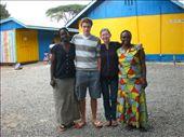 Teacher Irene, Allister, myself, and Teacher Judy outside the hospital: by jess_az, Views[252]