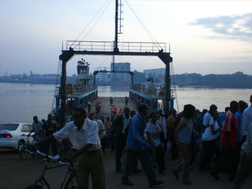 Taking the ferry across into Mombasa