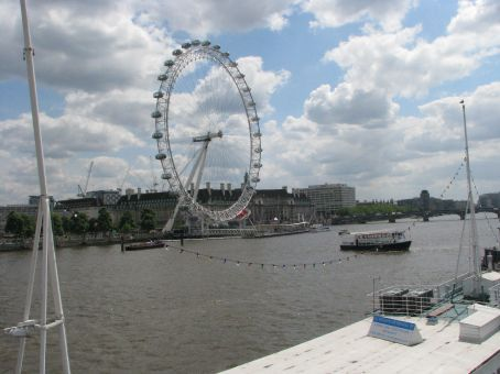 the london eye..were saving it for a really clear day