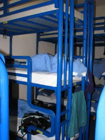these are the 3 person bunks at the london backpackers hostel..great