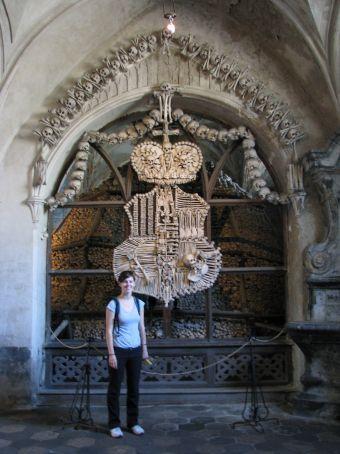 bone church..coat of arms made of bones