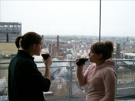 contemplating the view at the guiness storehouse in dublin