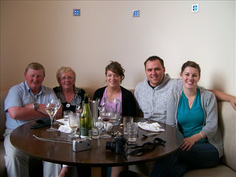 lunch at the thai restuarant with derek and nula, amys uncle and aunty