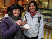 mum and bec eating poffertjes in ghent: by jess_dan, Views[273]